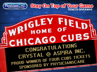 PhysiciansCare Cubs Tickets Giveaway