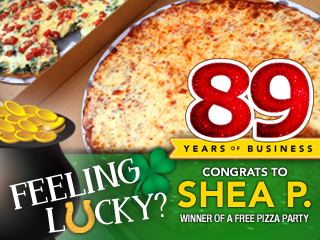 89th Anniversay Pizza Party Winner