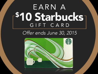 Earn A $10 Starbucks Gift Card