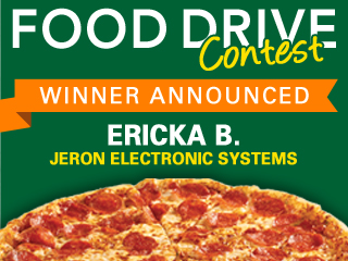 Food Drive Pizza Party Winner Announed