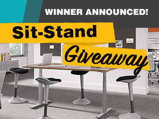 Winner Announced: Sit-Stand Giveaway